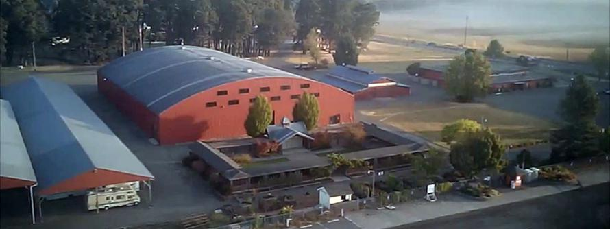 Aerial image of the County Fairgrounds
