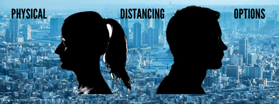 a black silhouette man and woman facing away from each other