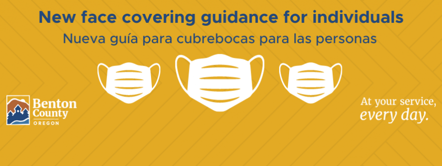 Updated face covering guidance for individuals