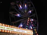 Carnival rides at the county fair