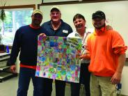 Public Works staff and Thank you card