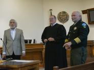L to R: Commissioner Malone, Judge Williams, Sheriff Jackson