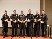 Six City of Corvallis Police Department Livability team members line up for a photo.