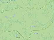 map of Woods Creek Sub-basin tributary drainage ways