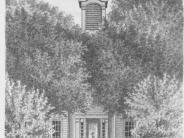 Circa 1860 First courthouse with Cupola Added in Greek Revival style