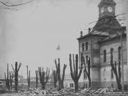 1906 Photo of original trees cut around courthouse