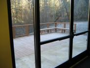 Looking Out Doors to the Right Side of Deck