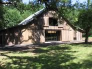 Front of the Beazell Forest Education Center