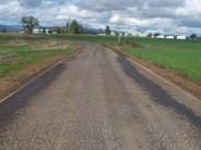 Roadway prior to grinding placement