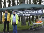 Auxiliary Team members at Drug Take Back Event.