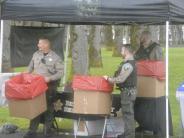 Reserve Deputies collect medications at Drug Take Back Event.