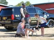 K-9 Deputy Tommy with children.