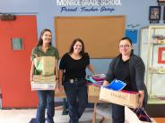 BCSO staff members donate school supplies..