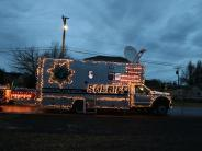 BCSO Mobile Command Unit decked out for the Corvallis Christmas parade.