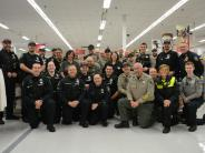 BCSO Deputies and other agencies at this year's Shop with a Cop.
