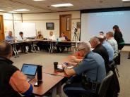 Solar Eclipse Workgroup meet to plan for summer event.