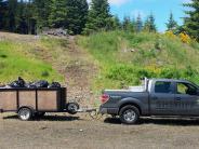 BCSO sponsors volunteer clean up of trash at popular target shooting site on Marys Peak.