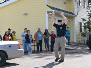 Citizens' Academy participants get high risk traffic stop demo.