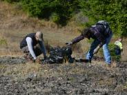 Volunteers picking up trash at the Marys Peak Clean-Up.