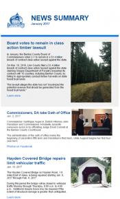 January 2017 News Summary thumbnail