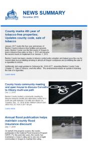 December 2016 News Summary thumbnail