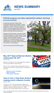 April 2017 News Summary thumbnail