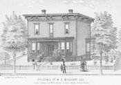 Residence of W.S. Woodcock, Corvallis, ca. 1885