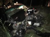 Crashed vehicle