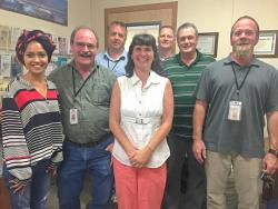 Benton County Environmental Health staff. (L to R) Reem Tariq, Bill Emminger, Rob Turkisher, Marcy Dailey, Loren Emang, Scott Kruger, Robert Baker.