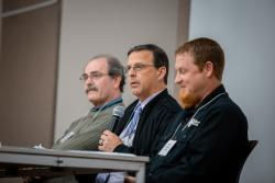 Pictured above (L to R): Bill Emminger, Benton County; Tom Hubbard, City of Corvallis; Pat Hare, City of Adair