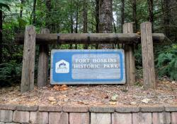 sign to the Fort Hoskins Historic Park