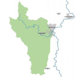 map of Marys River Watershed