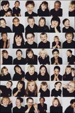 Images of happy developmentally diverse children