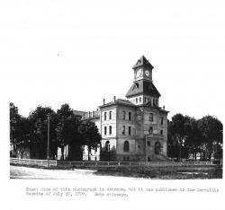 Black and White Photo of Courthouse ca. 1897