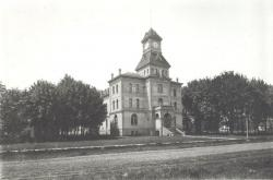 Black and White Negative Proof of Courthouse ca. 1902