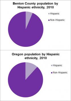 Population By Hispanic Ethnicity graph