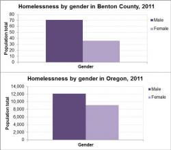 Homelessness by Gender graph