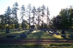 Sunrise at Crystal Lake Cemetery