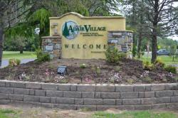 Adair Village Welcome Sign