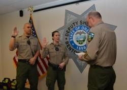 Deputies being sworn in
