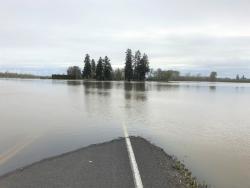 Road closed at Kiger Island