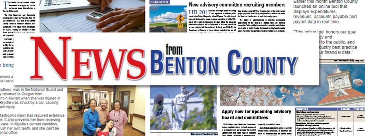 News from Benton County banner