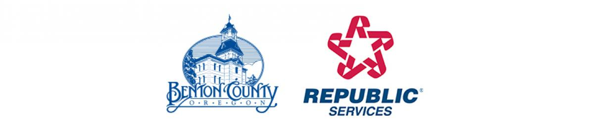 Joint logo of Benton County and Republic Services, Inc.
