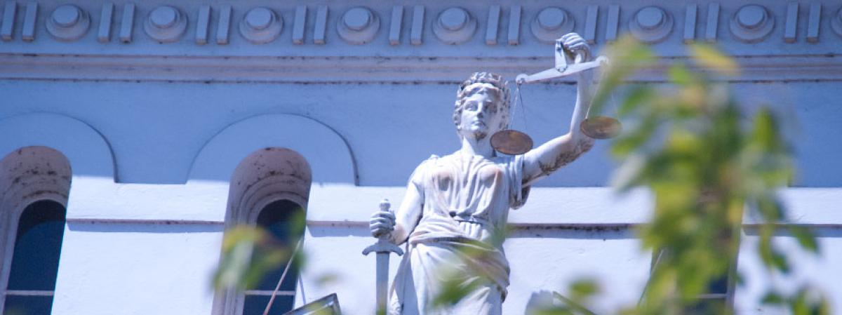 Lady Justice on the Courthouse