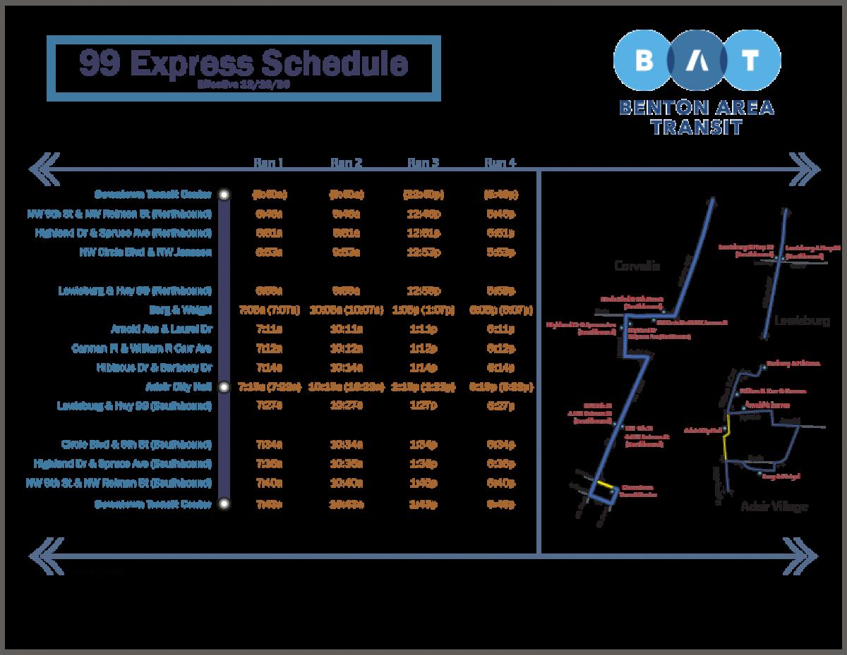 99 Express Service Schedule_2020-09-14_BAT