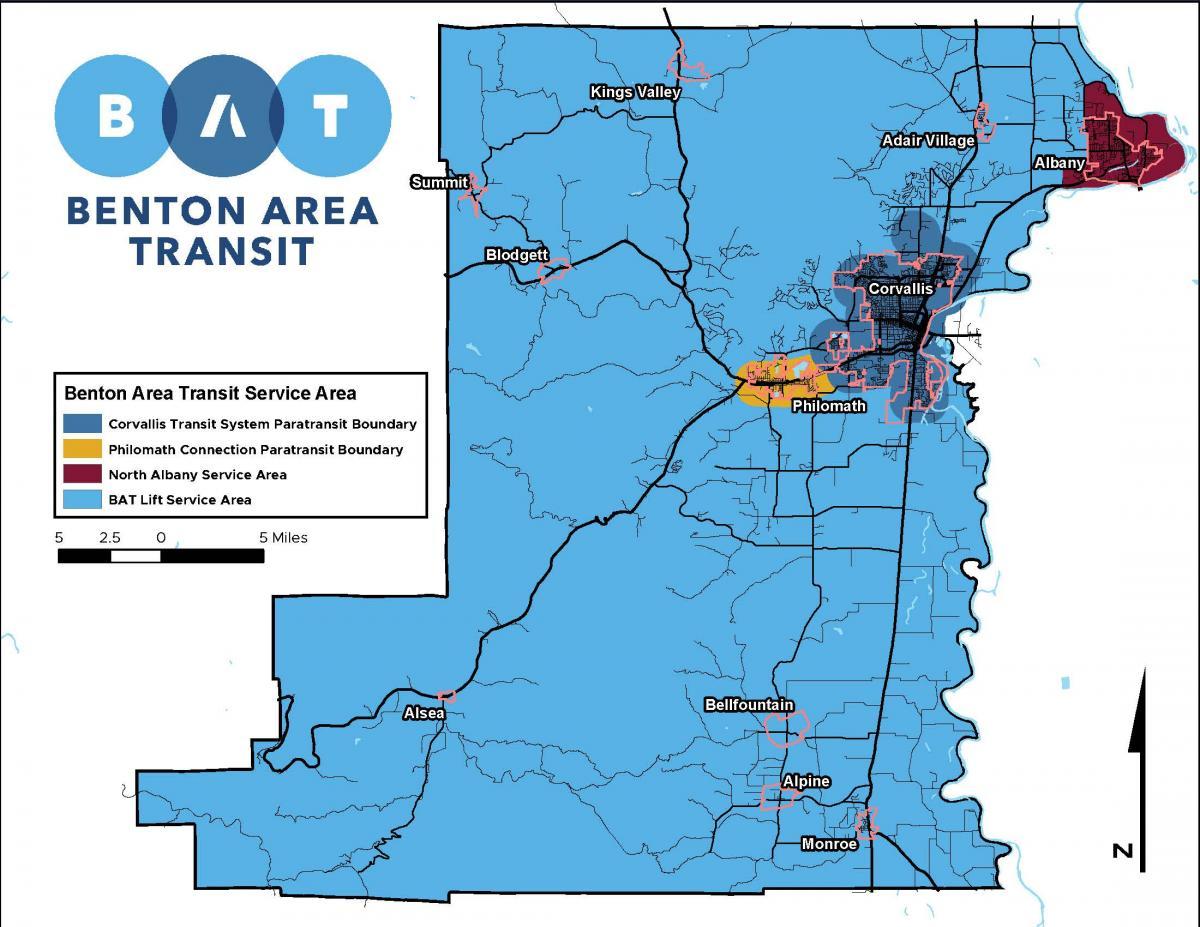 BAT Lift Service Boundary Map