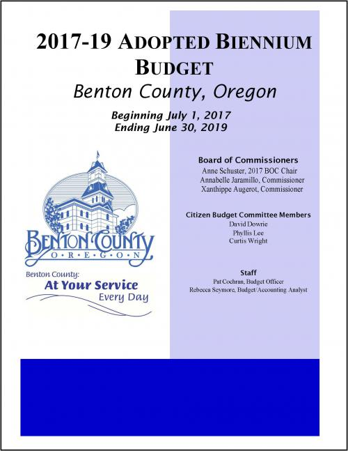 Benton County Budget - 2017-2019 | Benton County Oregon