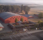 Aerial view of the Benton County Fairgrounds arena.